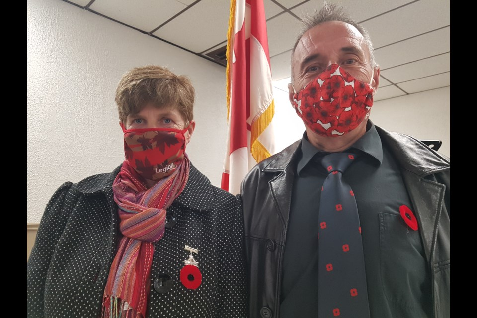 Silver Cross Mother Carol Collier and husband Jim were on hand for Friday's Poppy Fund Campaign launch at the Barrie Legion, Friday. Shawn Gibson/BarrieToday