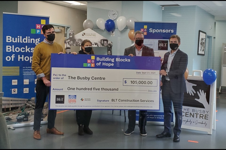The Busby Centre was the recipient of a donation of $105,000 and a new outreach van on Thursday.