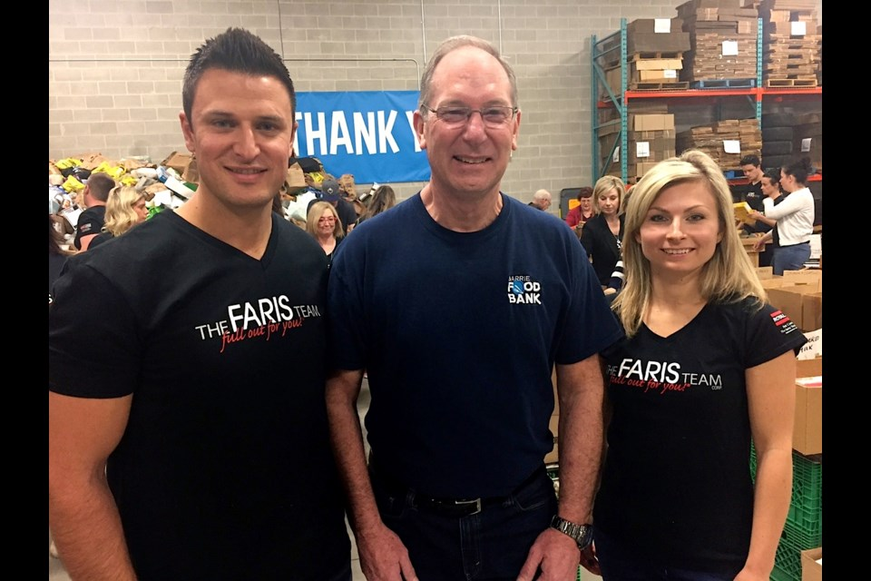 Community partners Mark and Joanna Faris are pictured with Peter Sundborg. Sue Sgambati/BarrieToday