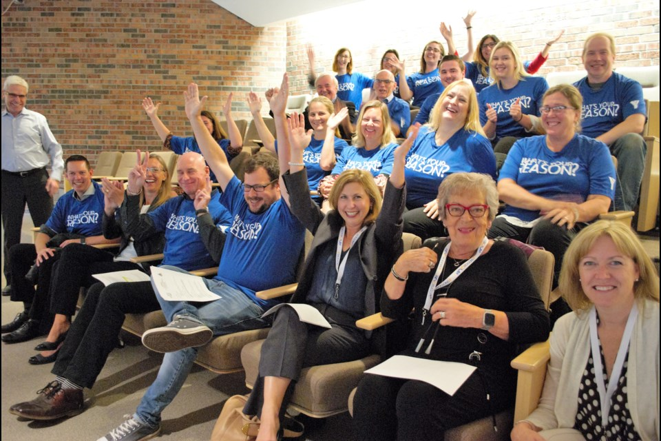 Supporters of the YMCA of Simcoe/Muskoka's regional hub project sat in county council chambers during committee of the whole on Sept 24. Jessica Owen/BarrieToday
