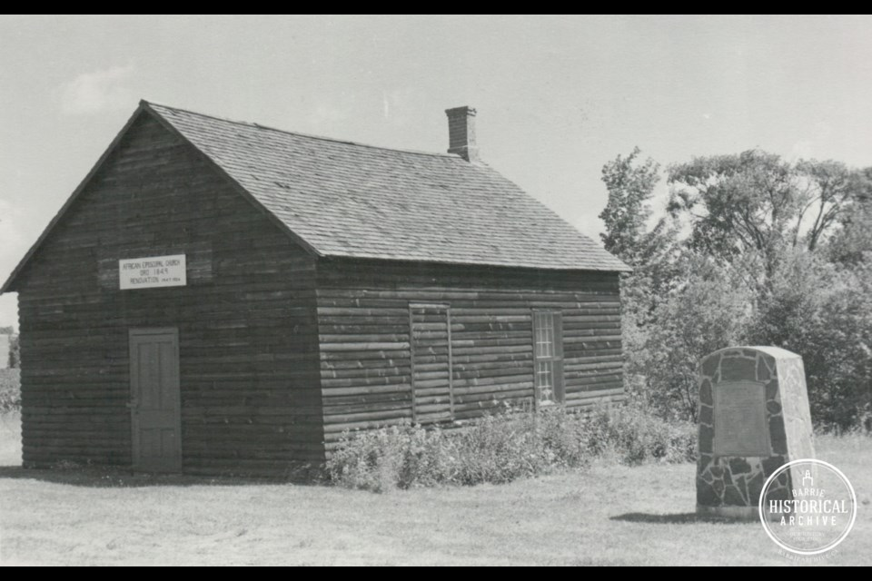 The Oro African Methodist Episcopal Church as it appeared in 1966.