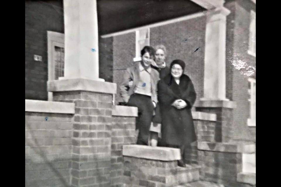 Grazia (Curcio) De Simone and her son, Guido, visiting a friend at 95 Cumberland St. Photo courtesy of Simone Gargano