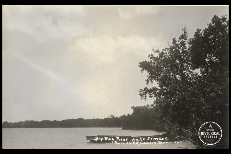 Big Bay Point dock in 1927.