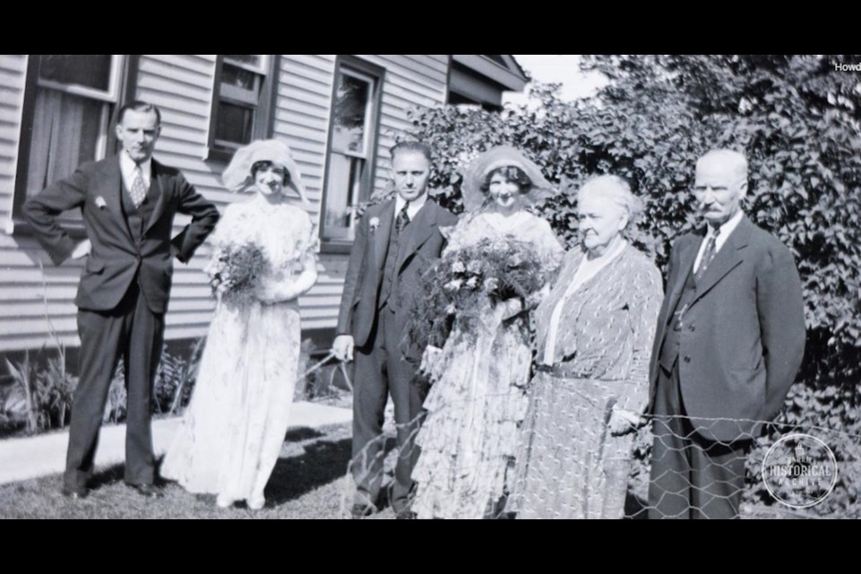 A Gill family wedding on Innisfil Street in the 1920s. Photo courtesy of the Barrie Historical Archive