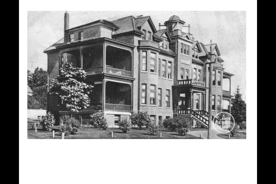 Royal Victoria Hospital on Ross Street, early 1900's. Photo courtesy of the Barrie Historical Archive