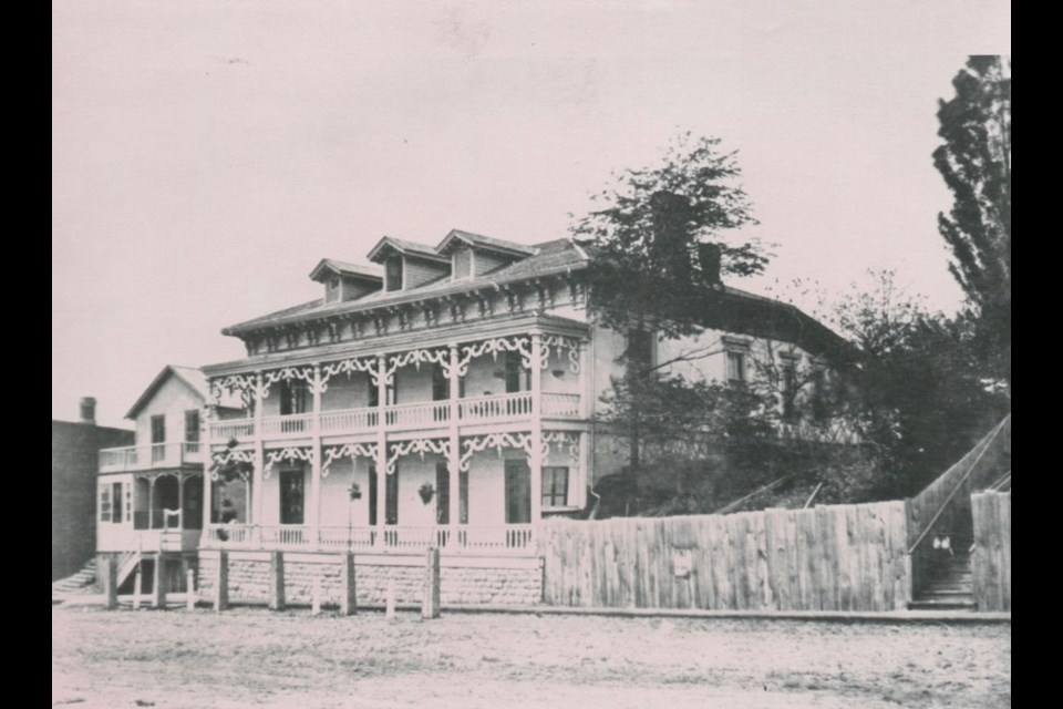Dr. W.A. Lewis once had his medical office in this building on Collier Street. 1875. Photo courtesy of the Barrie Historical Archive