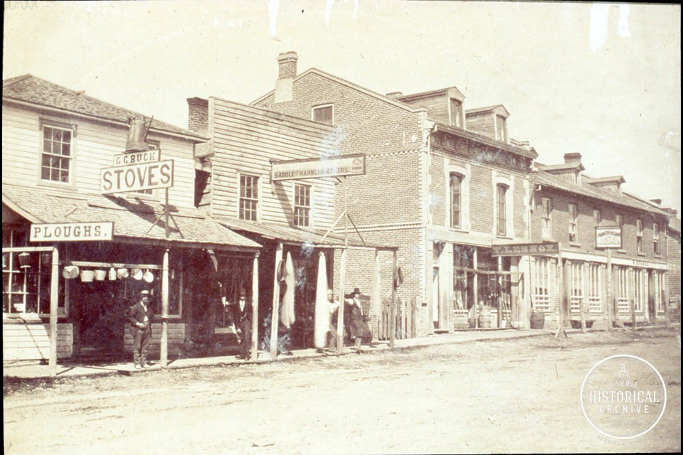 Looking up Bayfield St. from Five Points in the 1870s. Photo courtesy Barrie Historical Archive