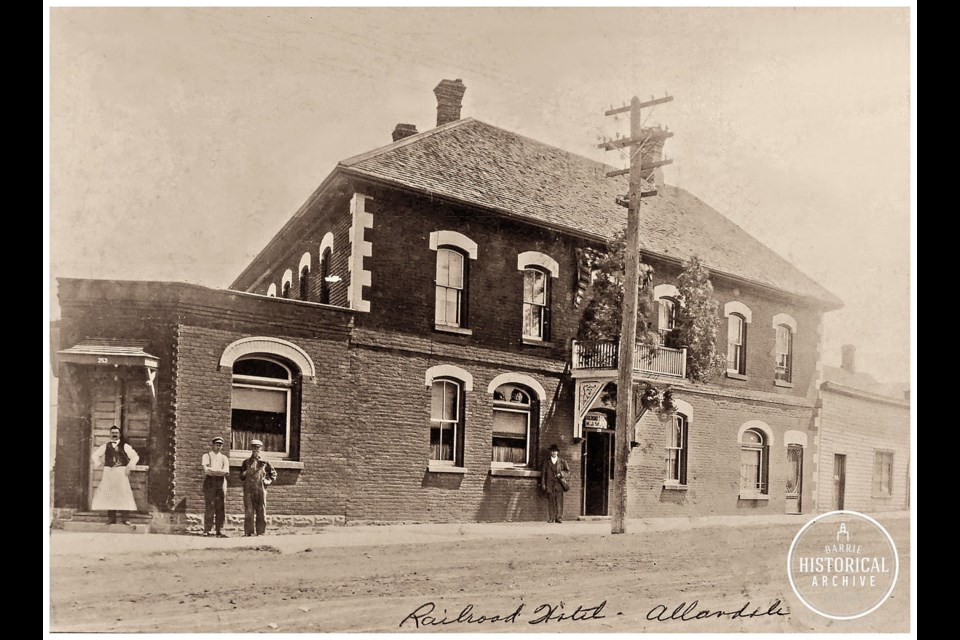 The former Clifton Hotel on Bradford Street in Allandale. Photo courtesy of the Barrie Historical Archive