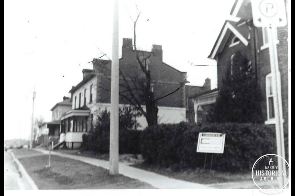 The former home of brewer Robert Simpson on Mary Street (far right) later came into the hands of the Anderton family. Photo courtesy of the Barrie Historical Archive