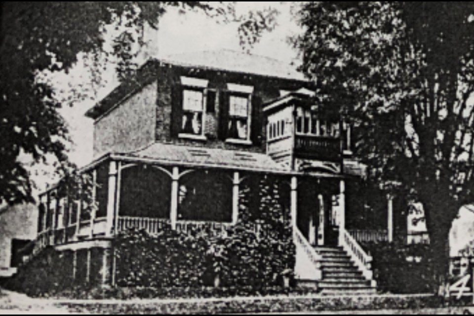 John Pearson House as it appeared in 1905. Photo courtesy of the Barrie Historical Archive