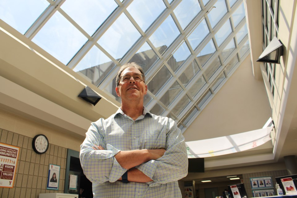 YMCA of Simcoe/Muskoka CEO Rob Armstrong, shown in this file photo from May 9, 2018, stands in the foyer of the Grove Street YMCA in Barrie. Raymond Bowe/BarrieToday