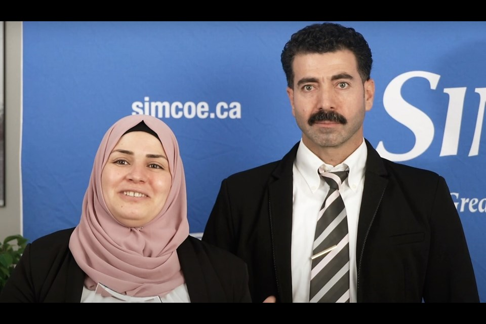 Ahmed Alasfar and Faten Alawad, husband and wife duo behind Barrie food company Feast from the East. YouTube screenshot