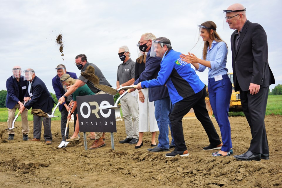 Premier Doug Ford attended the groundbreaking for the Oro Station Automotive Innovation Park on Thursday morning. Jessica Owen/BarrieToday