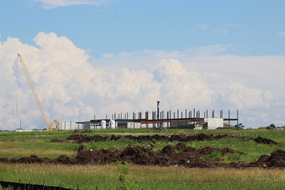 Construction continues on what's currently referred to as South Barrie Secondary School, on Mapleview Drive East at Prince William Way. Raymond Bowe/BarrieToday