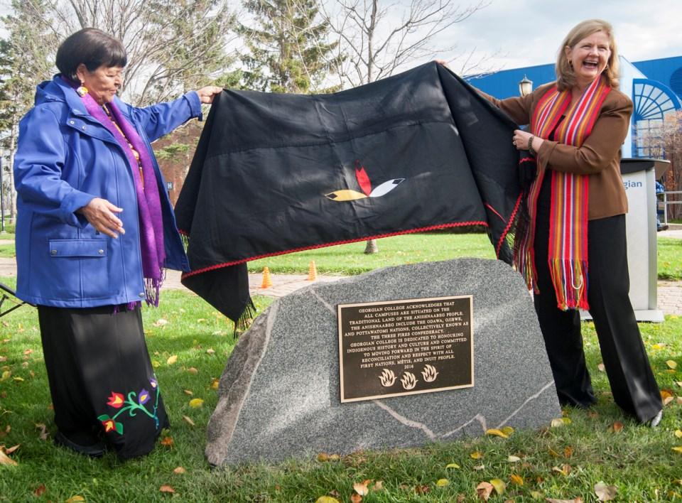 Georgian Indigenous plaque unveil