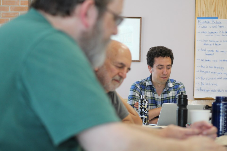 Theatre by the Bay artistic director Iain Moggach, at a Barrie Theatre Lab session, hopes to see lots of playwright contest submissions. Raymond Bowe/BarrieToday
