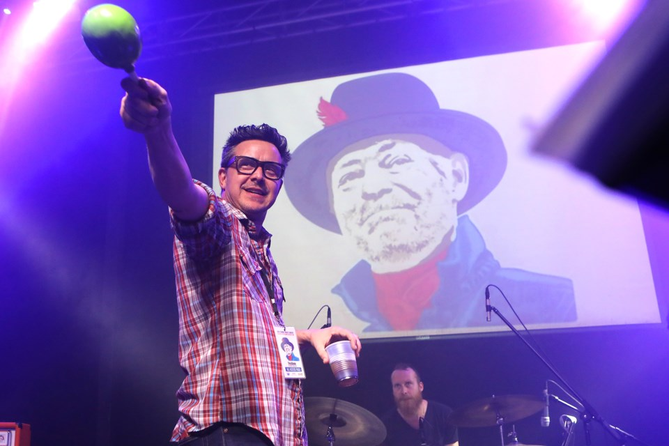 Danny Michel performs the song Fireworks at the Gord Downie Tribute Concert in support of The Downie Wenjack Fund and hosted by Chas. Hay of Inside the Music at Mavrick's Music Hall in Barrie on Friday, Jan. 26, 2018.