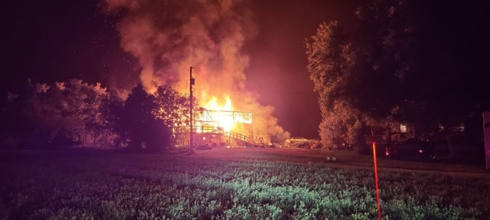 Barn Fire in Elmvale