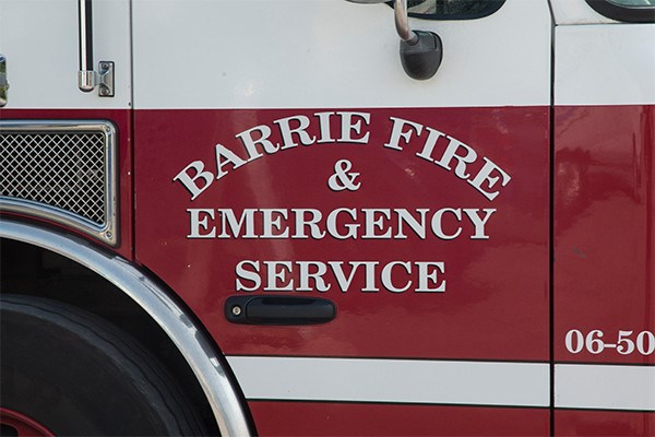A Barrie Fire and Emergency Service truck is pictured in this file photo.
