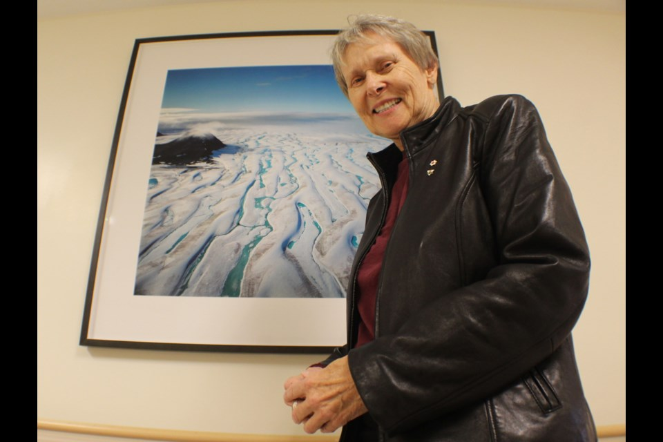 Canadian astronaut Roberta Bondar was in Barrie on Monday to officially donate a collection of eight landscape photos to the Royal Victoria Regional Health Centre. Raymond Bowe/BarrieToday