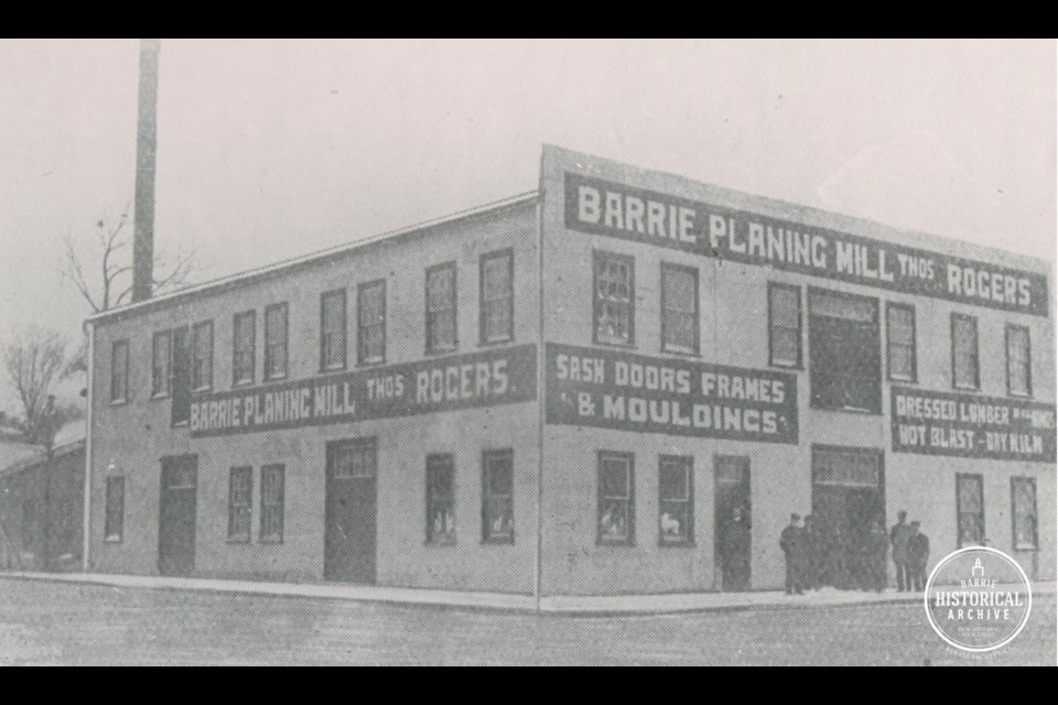 The Barrie Planing Mill circa 1911. Photo courtesy of Barrie Historical Archive