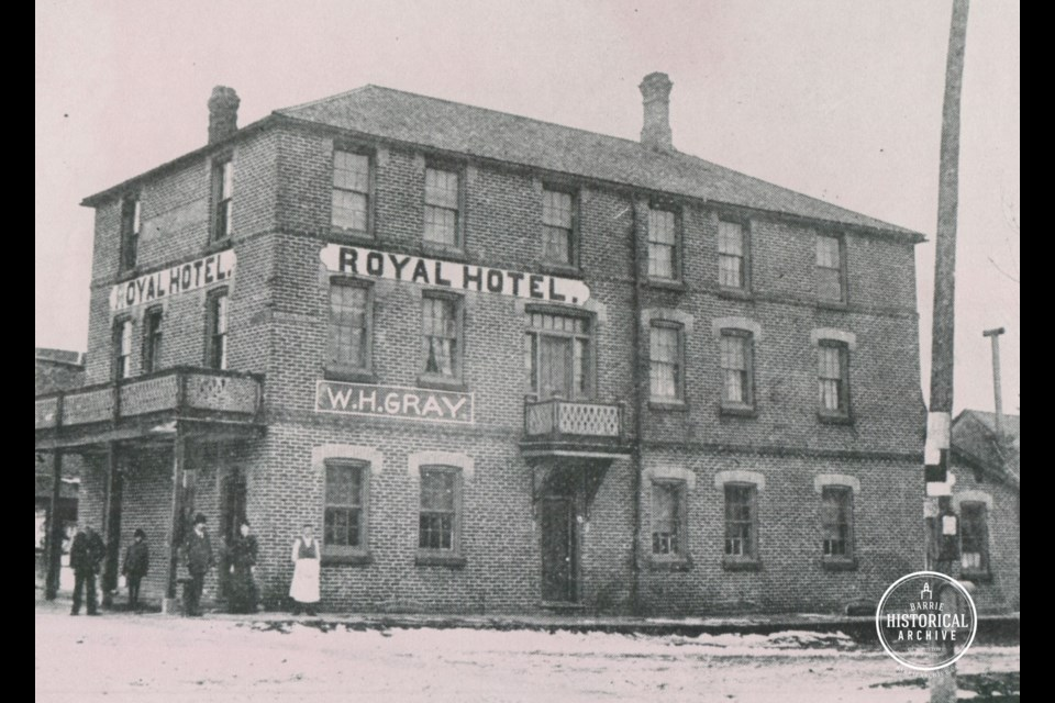 The Royal Hotel as it looked in 1897 in downtown Barrie. Photo courtesy the Barrie Historical Archive
