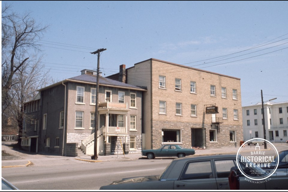 The address at 70 Collier St., as seen in the 1970s. Photo courtesy Barrie Historical Archive