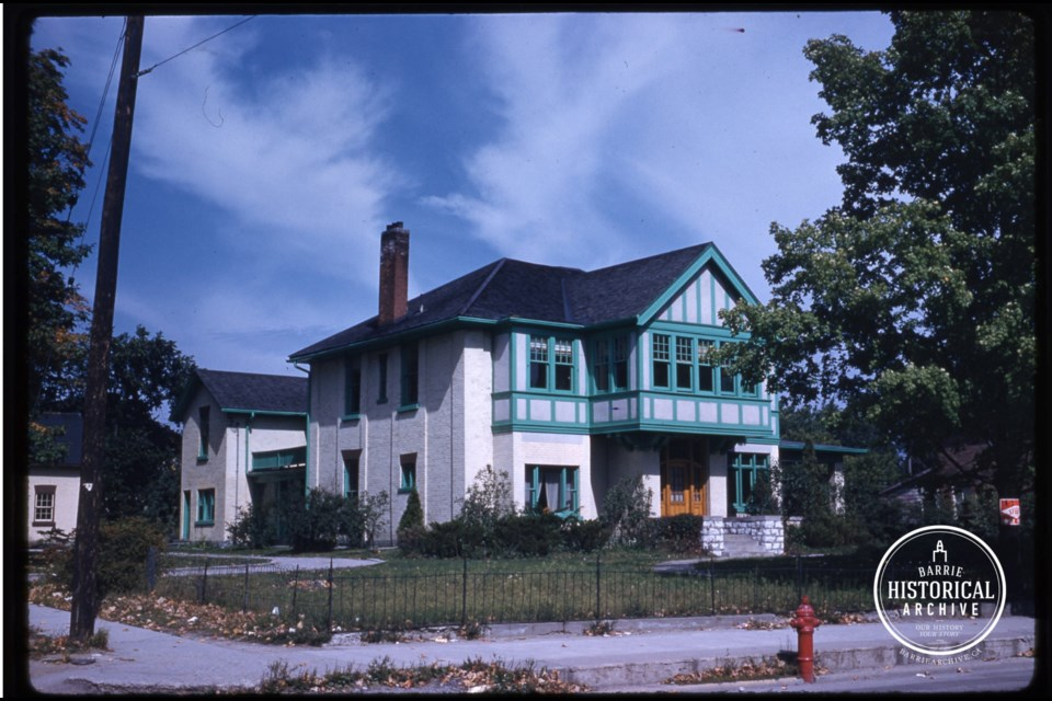 Rowanhurst is shown in 1955. Photo courtesy the Barrie Historical Archive