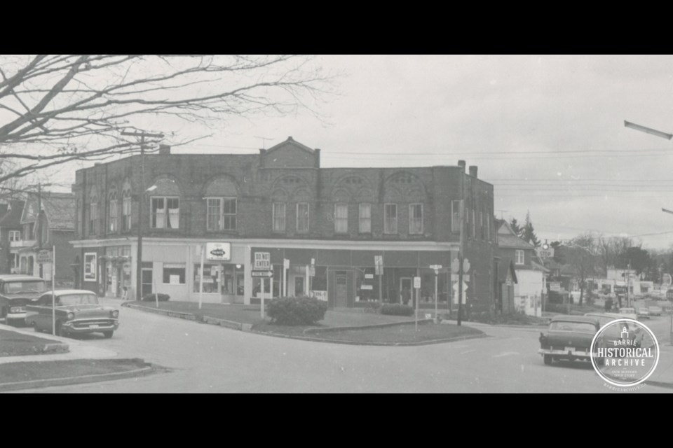 Bothwell's Corner — which is the intersection of Essa Road, Tiffin Street and Bradford Street — as it appeared in 1966. Photo courtesy of the Barrie Historical Archive