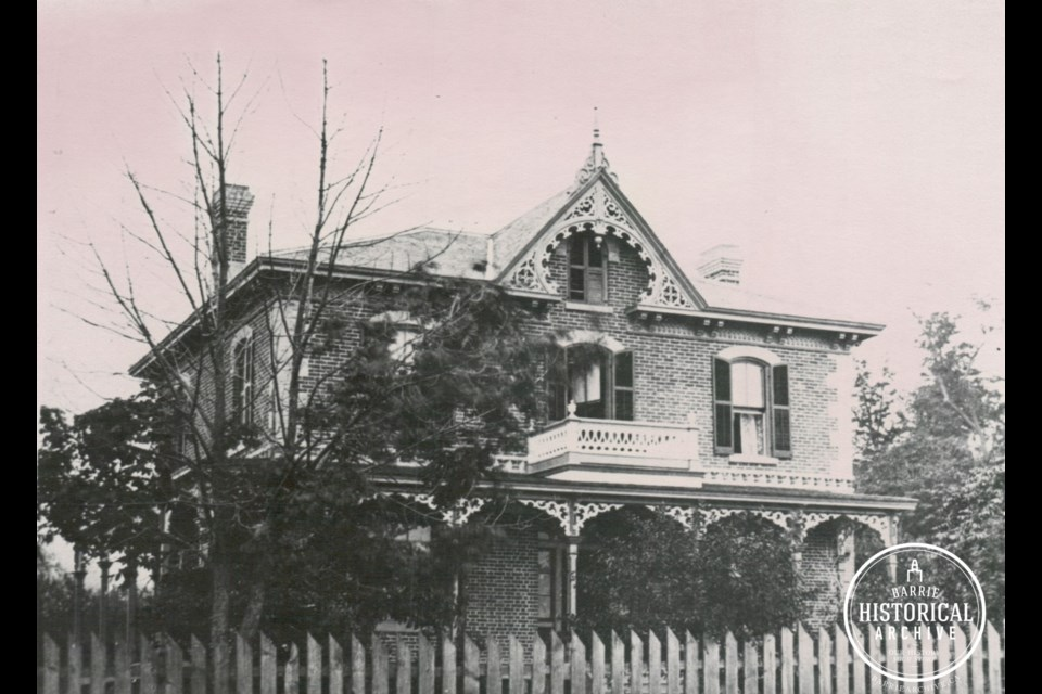 The Fletcher House as it looked in 1895, located at 63 High St. Photo courtesy of the Barrie Historical Archive