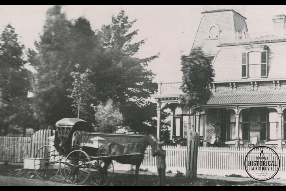 The building at 105 Toronto St., as it looked in 1875. Photo courtesy of the Barrie Historical Archive