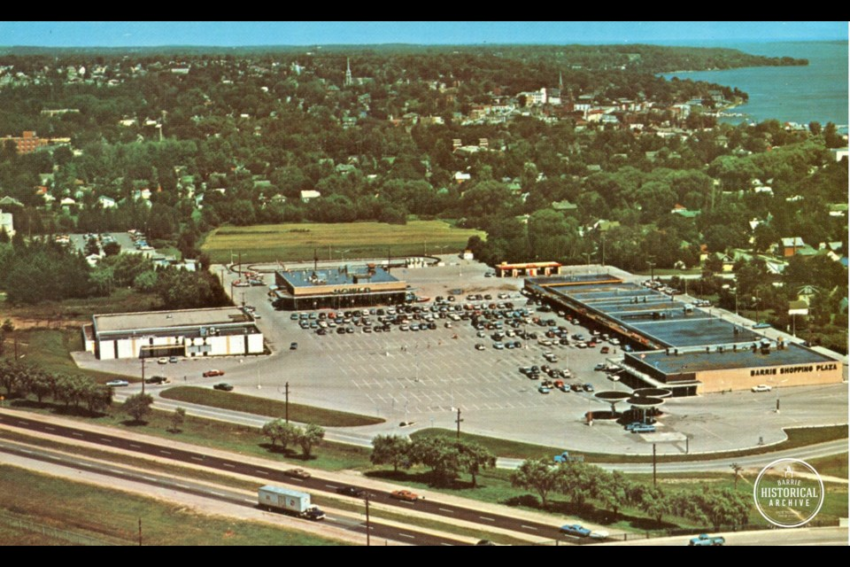 The Barrie Shopping Plaza is shown in an undated photo. Courtesy of the Barrie Historical Archive