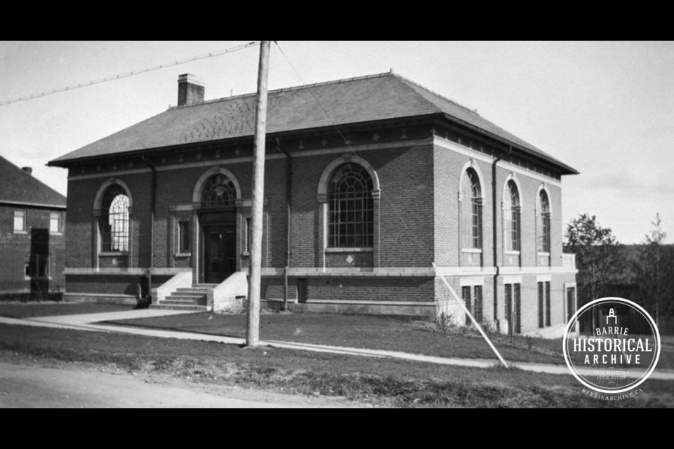 The former Barrie Public Library on Collier Street as it appeared in 1917. Photo courtesy of the Barrie Historical Archive