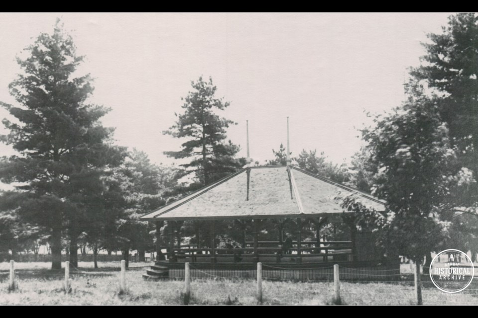 St. Vincent Park in east-end Barrie as it appeared in 1912. Photo courtesy of the Barrie Historical Archive