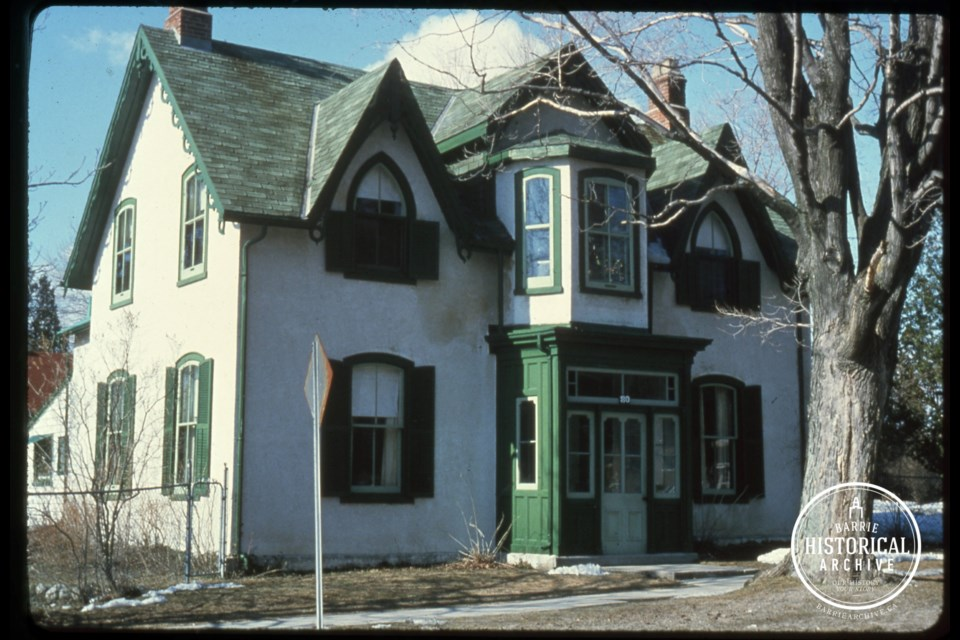 The home at 84 Wellington St. E., as it appeared in 1975. Photo courtesy of the Barrie Historical Archive