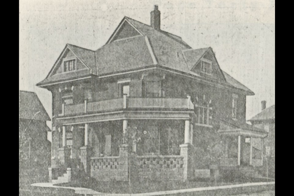 The home at 152 Bradford St., as it appeared circa 1908. Photo courtesy of the Barrie Historical Archive