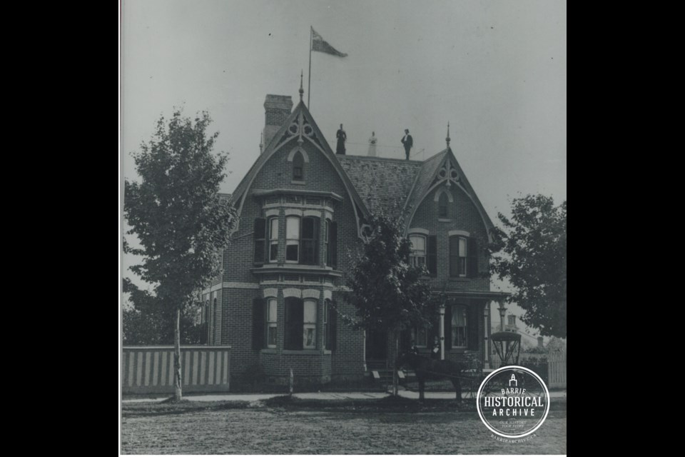 The home at 113 Collier St., is shown circa 1880. Photo courtesy of the Barrie Historical Archive