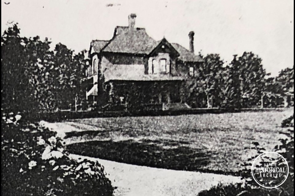 The Barrie home at 169 Bayfield St., circa 1901.