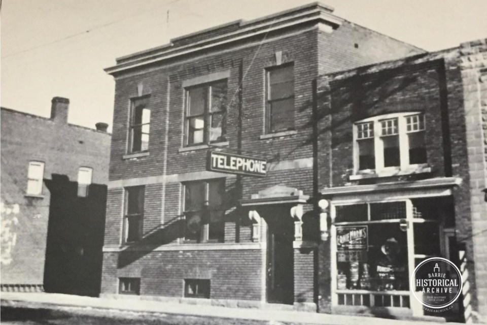 The Bell Telephone Company on what is known today as Dunlop Street West is shown in 1917.