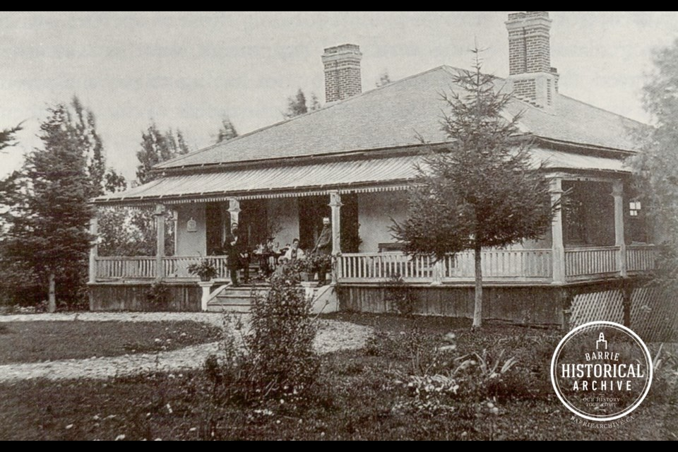 Rose Cottage as it appeared in 1875.