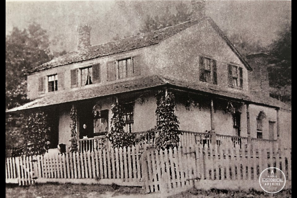 The Ladd House as it appeared in the 1830s.