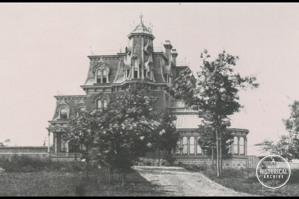 The Oaks, also known as Lount's Castle, as it appeared in 1887.