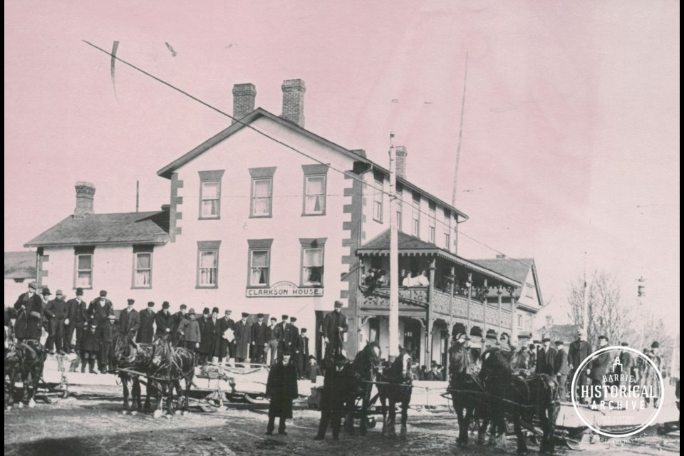 The Clarkson House Hotel is it appeared circa 1915 in downtown Barrie. Photo courtesy of the Barrie Historical Archive