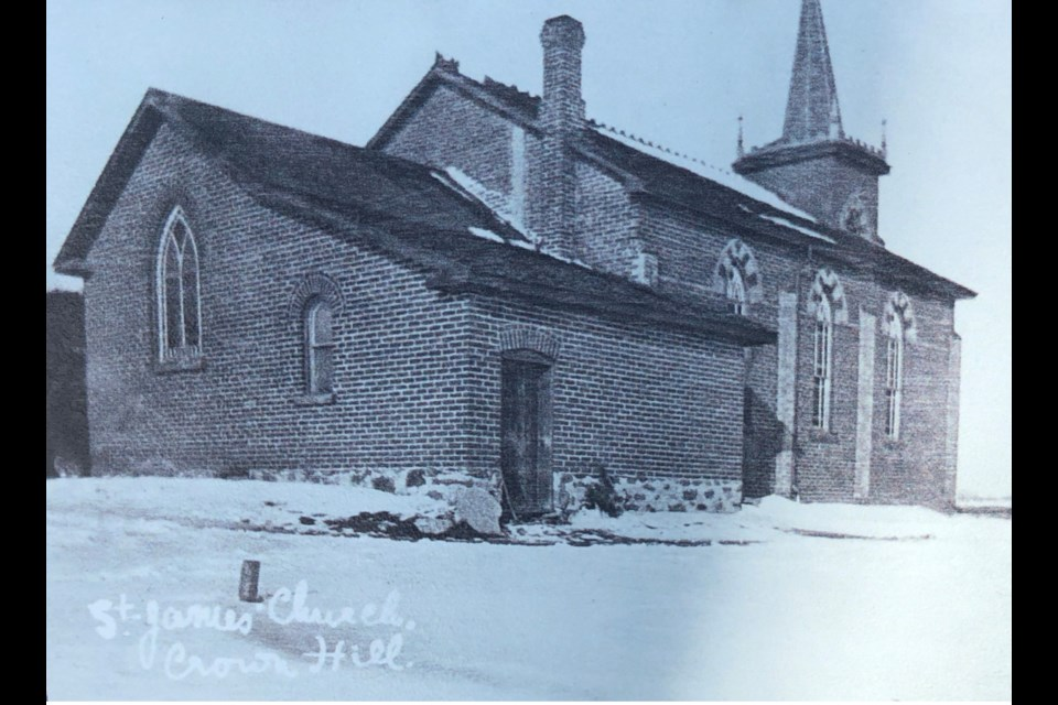 St. James Anglican Church in Crown Hill, north of Barrie, is shown in an undated photo.