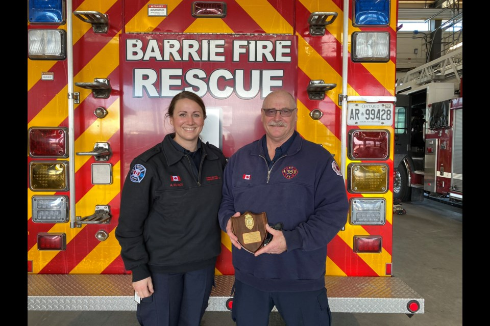 Monday was a day of firsts, and lasts, as Alanna Kovacs (left) started training with Barrie Fire and Emergency Services while her dad, Attila Kovacs, headed into retirement.