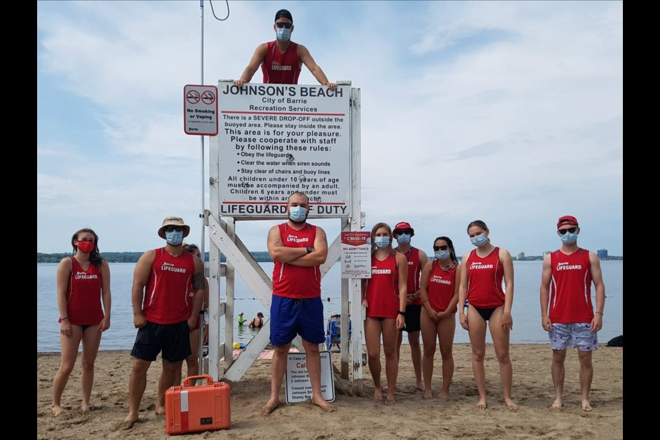 City of Barrie lifeguards are shown in a file photo from June. Shawn Gibson/BarrieToday