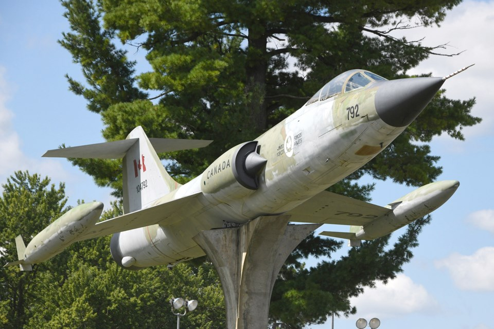 A CF-104 Starfighter intercepter is on display at CFB Borden. Ian McInroy for BarrieToday