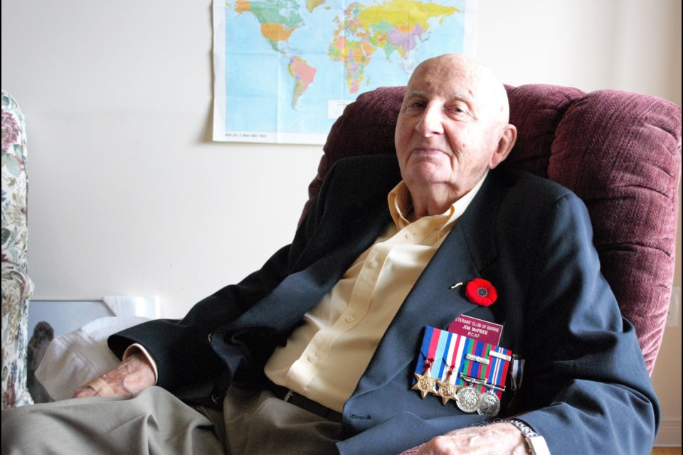 Jim McPhee in his Barrie apartment, recounted his story of perseverance during the Second World War. Jessica Owen/BarrieToday