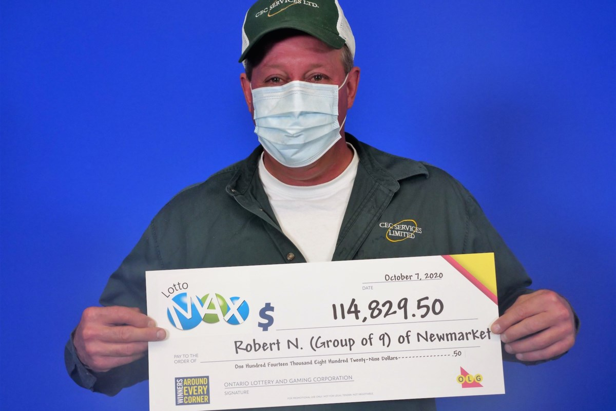 Barrie man among group of nine electrical workers shocked by Lotto Max... image