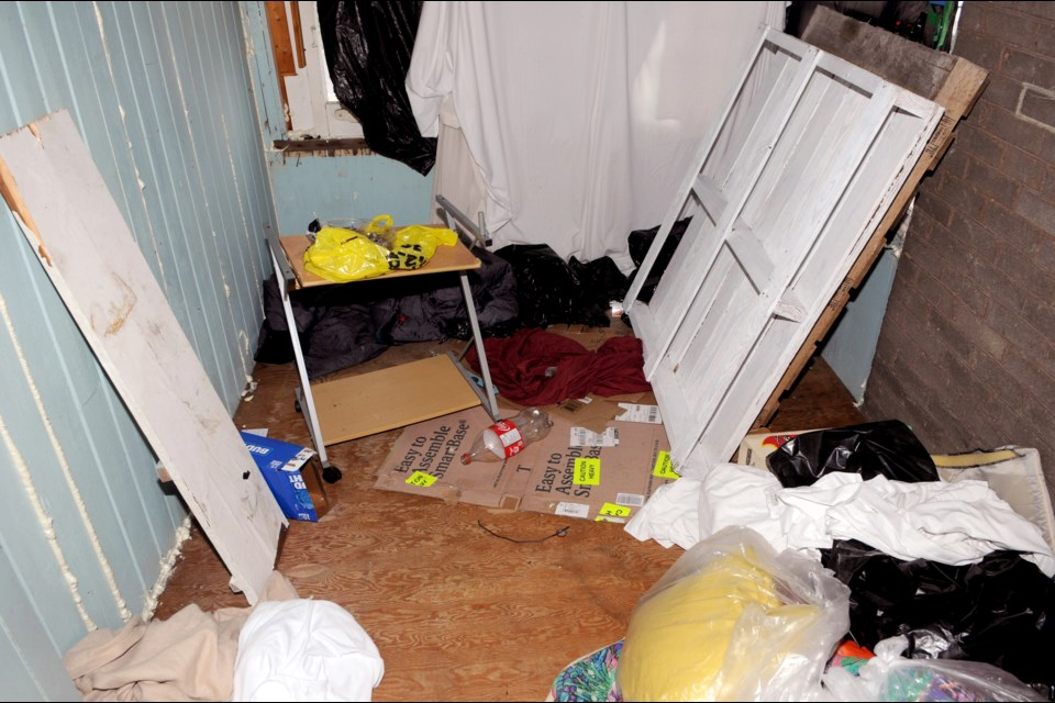 A photo of the squalid living conditions endured by human trafficking victims at local resorts in 2019. File Photo